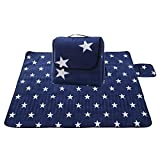 GWELL Picknick Decke Fleece 200x200 cm mit...