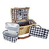 Mendler Picknickkorb-Set HWC-B23 für 6 Personen,...