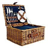 Luxus Picknickkorb für 2Personen blau...
