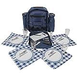 Picknickrucksack mit Inhalt für 4 Personen mit...