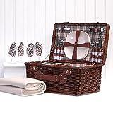 Deluxe Weiden Picknickkorb 'Bromley' für 4...