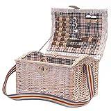 Shabby-Chic-Stil Picknickkorb für 2 Personen mit...