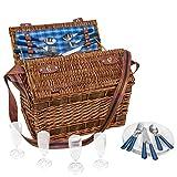 anndora Weiden-Picknick Korb Summertime für 4...