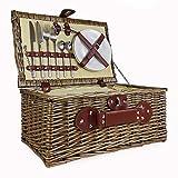 Picknickkorb, Weidenkorb für 2Personen, mit...