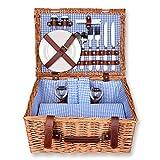 Schramm® Picknickkorb 40x30x20cm rechteckig aus...