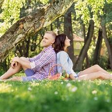 romantisches picknick zu zweit