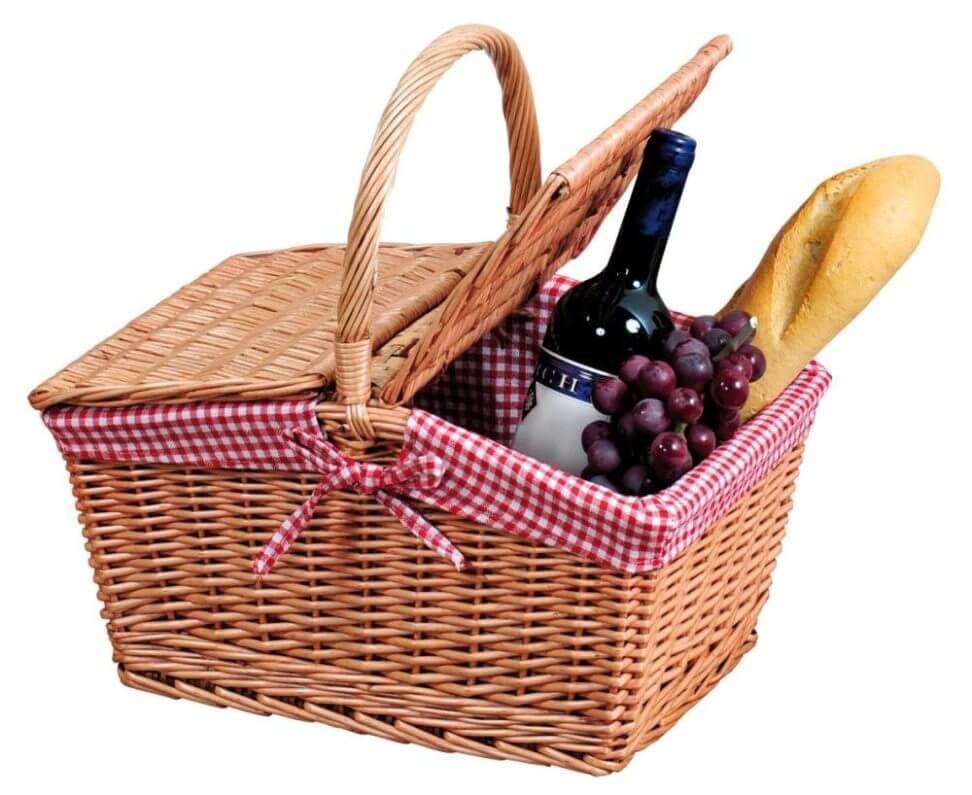 Picknickkorb ohne Inhalt