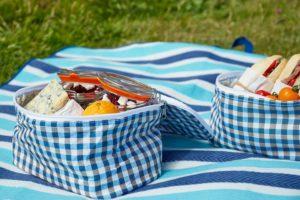 Picknickkorb mit Kühltasche