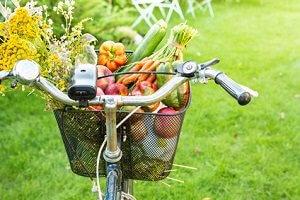 Einen Fahrrad Picknickkorb finden
