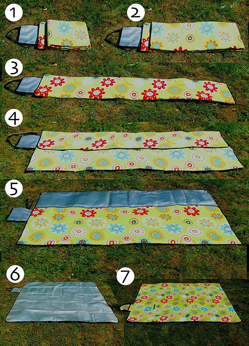 Picknickdecke falten