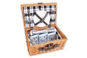Picknickkorb für 2 Personen mit Kühlfach von WOP ART